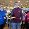 Leominster Superintendent Paula Deacon and Fitchburg Superintendent Robert Jokela with Fitchburg Mayor Stephen DiNatale cut a ribbon to start the Thanksgiving rivalry fundraiser held at Barnes & Noble in Leominster on Saturday, Nov. 23, 2019. SENTINEL & ENTERPRISE/JOHN LOVE
