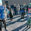 Leominster Superintendent Paula Deacon got silly stringed by Leominster student Ava Zumwalt, 6, with help Kerry Conway the community relations liaison for Barnes & Noble to help start the Thanksgiving rivalry fundraiser held at Barnes & Noble in Leominster on Saturday, Nov. 23, 2019. SENTINEL & ENTERPRISE/JOHN LOVE