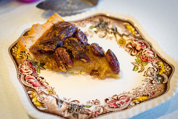 Slice of pecan pie