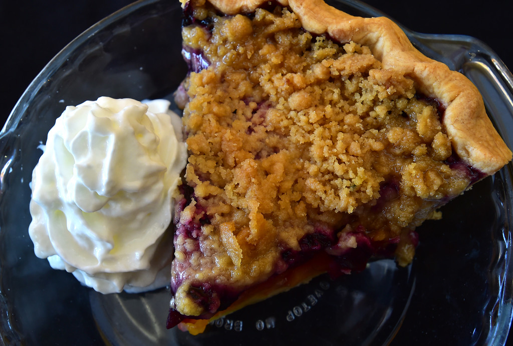 . A Blueberry Peach Crumb Pie at the Walnut Cafe in Boulder on Monday. Paul Aiken Staff Photographer Nov 13, 2017