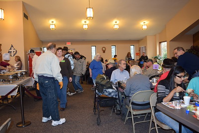 Susan Field-Morning Sun Volunteers and Mt. Pleasant area residents enjoy the annual Immanuel Lutheran Church Community Thanksgiving Dinner.