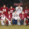 11/21/02 : Lowell HS Turkey Tab :  Lowell- LHS Offense, frt, l-r; Chris Coutu, James McNeil, Steve Trombly, Pat Donovan, Darren Wilson. Rear,l-r; Pat Sheehan, Joel Bartlett, Joe McCreedy, Wil Colon, Claudius Zorokong, Tim Sweet.    Sun Photo Bob Whitaker/DIGITAL IMAGE