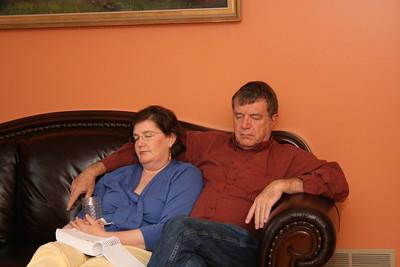 Portia and Gene resting.
