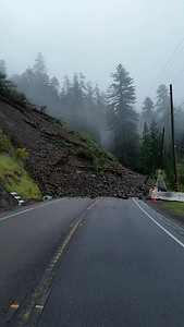 By Thursday morning, the slide was to reported to have doubled in size. (Photo by Caltrans)