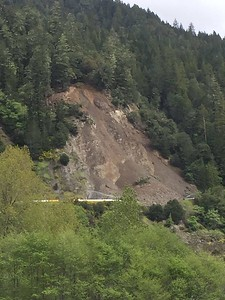 On Tuesday, Caltrans said the slide was continuing to be active and the Wednesday estimate was revised. (Photo from Caltrans)