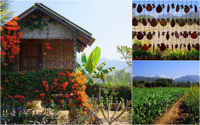 A little shack and in the countryside of Pai, Thailand
