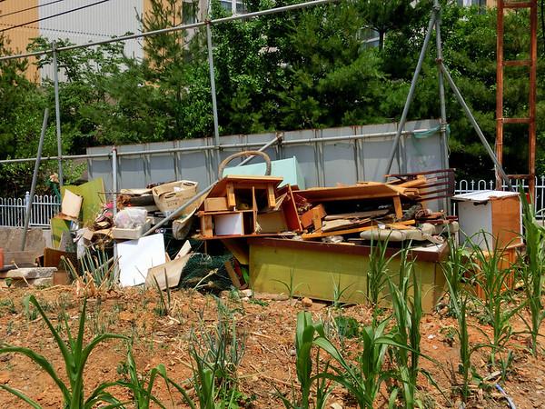 Illegal dumping of furniture