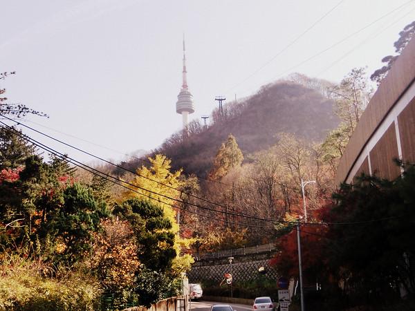View of N Seoul Tower atop Namsan