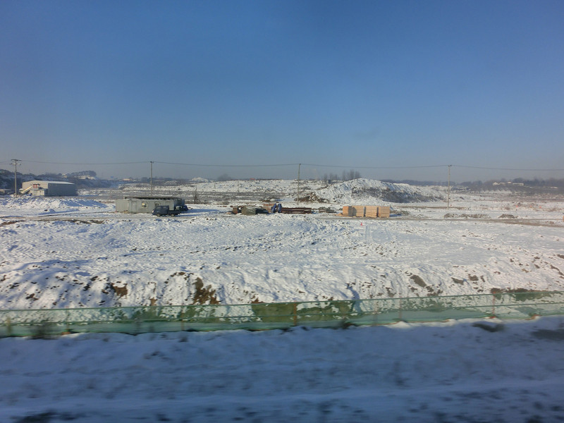 Korean countryside in winter