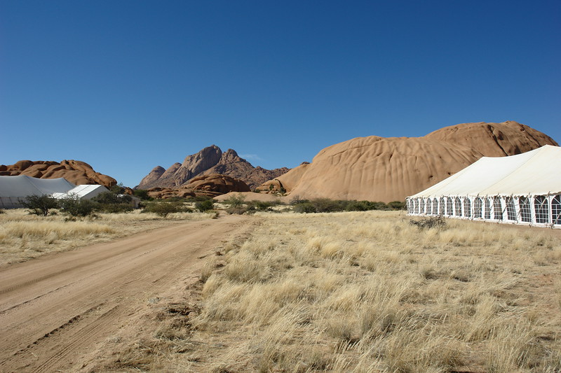 10000BC catering tent at Spitzkoppe