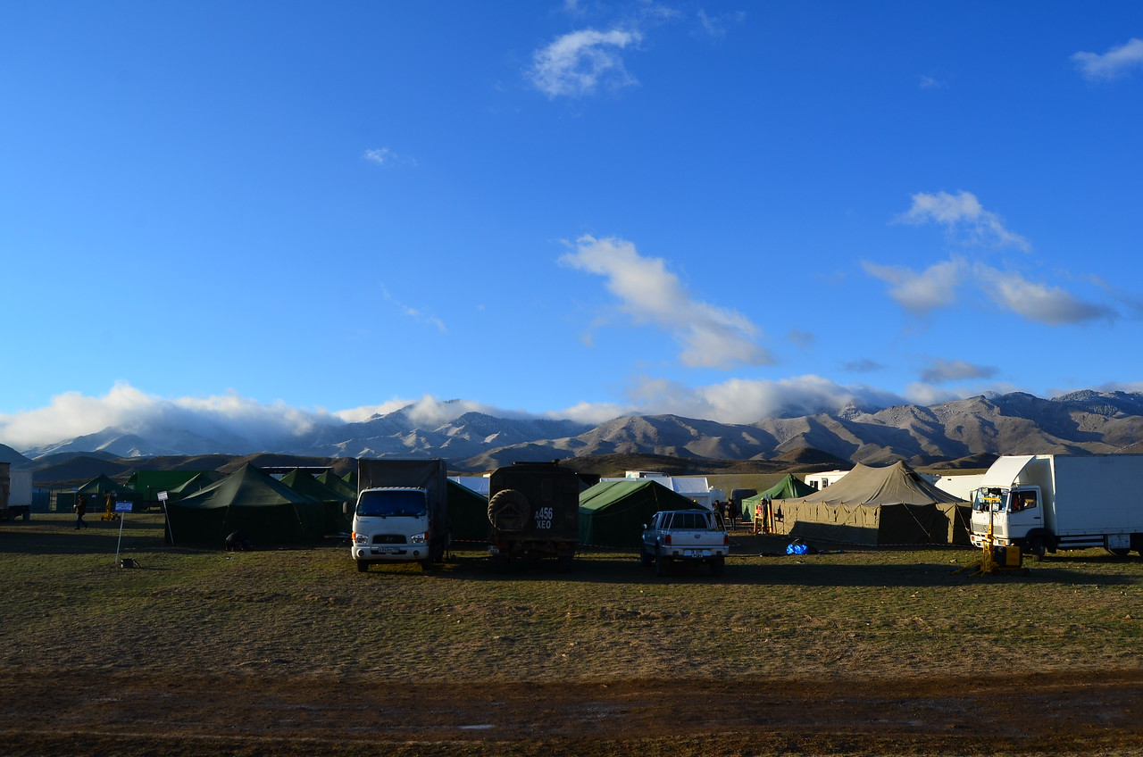 Base camp on the Steppe