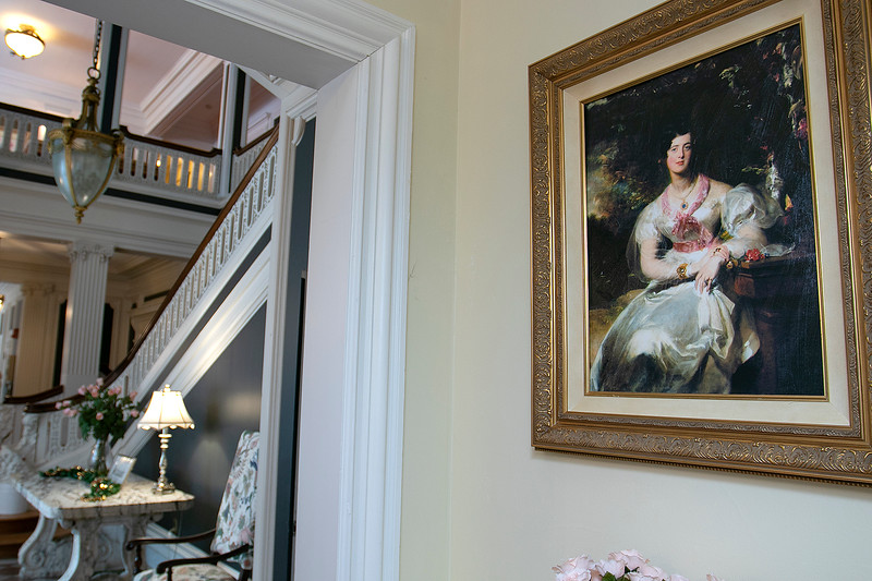 """The Thayer Mansion in Lancaster was used recently in the new movie """"Little Women"""" that came out in 2019. This painting was brought in and hung for the movie and was left behind after they left. SENTINEL & ENTERPRISE/JOHN LOVE"""