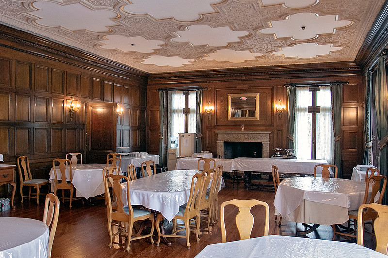 """The Thayer Mansion in Lancaster was used recently in the new movie """"Little Women"""" that came out in 2019.  A view of the dinning room they used for a scene in the movie. SENTINEL & ENTERPRISE/JOHN LOVE"""