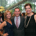 Event co-chair Jennifer Kramer, President of the Board of Trustees Brian Cook and event co-chair Deborah Greenwald.