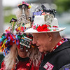 This couple celebrates their 48th derby at the 143rd Kentucky Derby at Churchill Downs on Saturday. Staff Photo By Josh Hicks