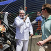 Colonel Sanders welcomes fans to the infield during the 143rd Kentucky Derby at Churchill Downs on Saturday. Staff Photo By Josh Hicks