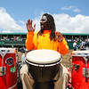 A drummer fills the infield with music and laughs at the 143rd Kentucky Derby at Churchill Downs on Saturday. Staff Photo By Josh Hicks