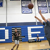 The 16th Mark Osowski Memorial Basketball Camp was being held this week at the Leominster High School gym. Zeb Cohley, 9, puts up a free throw during the camp on Tuesday, August 13, 2019. SENTINEL & ENTERPRISE/JOHN LOVE
