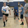 The 16th Mark Osowski Memorial Basketball Camp was being held this week at the Leominster High School gym. August 13, 2019. The kids participated in a relay race during the camp. Kendal Hattabaugh, 10, dribbles down court during the relay. SENTINEL & ENTERPRISE/JOHN LOVE