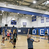 The 16th Mark Osowski Memorial Basketball Camp was being held this week at the Leominster High School gym. Aidan Doherty, 12, puts up a free throw during the camp on Tuesday, August 13, 2019. SENTINEL & ENTERPRISE/JOHN LOVE