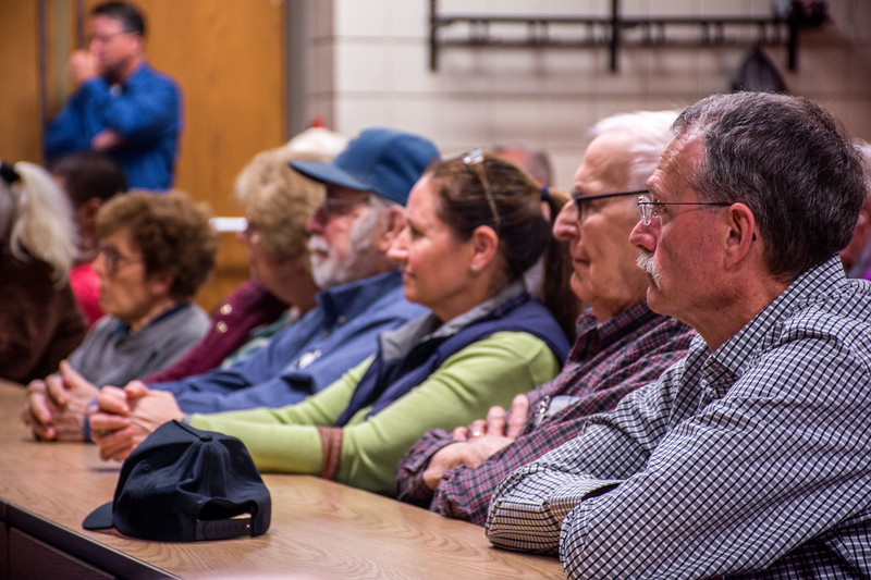 All the participants listened very carefully and the speech provided more information for the city where they live in. The program was held at the Manhattan Headquarters Fire Station, 2000 Dension, Manhattan, Kansas.  (Bill Zhu | Collegian Media Group)