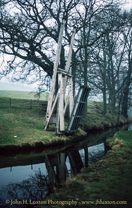 Llangollen Canal - Llanddyn Lift Bridge - February 22, 1982