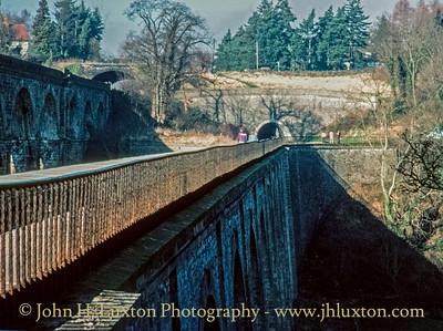 Llangollen Canal - Chirk Aqueduct - January 21, 1981