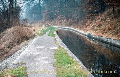 Llangollen Canal - Sun Trevor Terrace Embankment - February 22, 1982