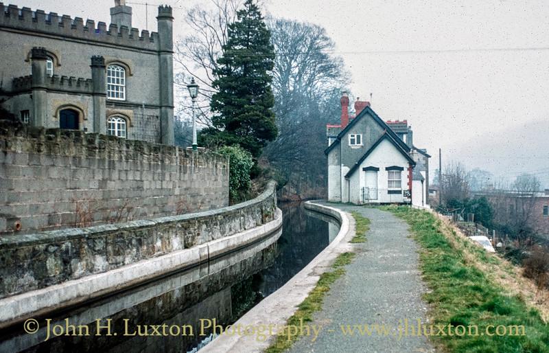 Llangollen Canal - Llangollen Wharf  - February 22, 1982