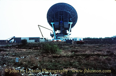 The British Telecom Earth Station at Goonhilly Downs.