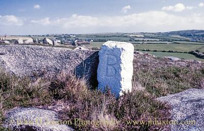 Basset Mines Boundary Stone, Carn Brea, Redruth, Cornwall - May 29, 1989