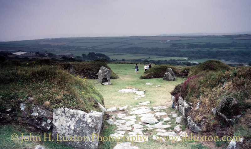 Chysauster Ancient Village, New Mill, Penwith, Cornwall  - August 20, 1987