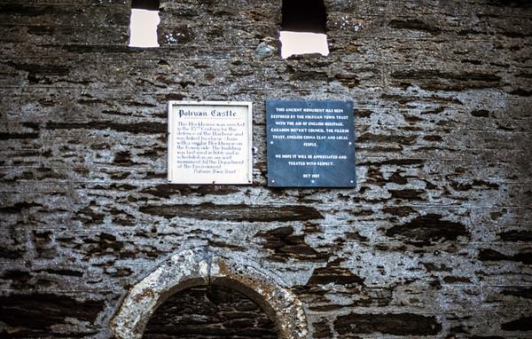 Polruan Castle, Polruan, Restormel, Cornwall - October 1993