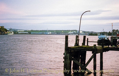 Remains of the White Star Line Jetty at Cobh from which the tenders service the ocean liners would depart. These seldom entered the harbour and this dropped anchor off Roche's Point.