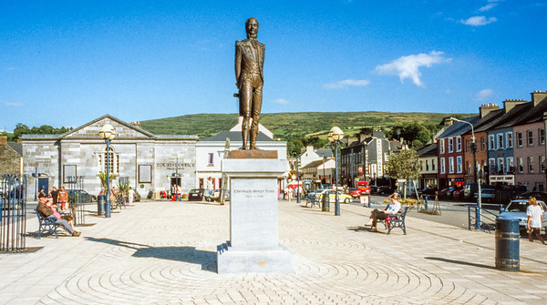 Theobald Wolfe Tone Statue, Bantry, County Cork, Eire  - July 31, 2001