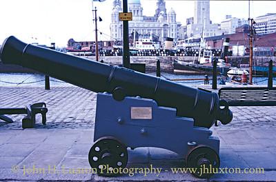 The One O'Clock Gun - Albert Dock, Liverpool - March 22, 1987.