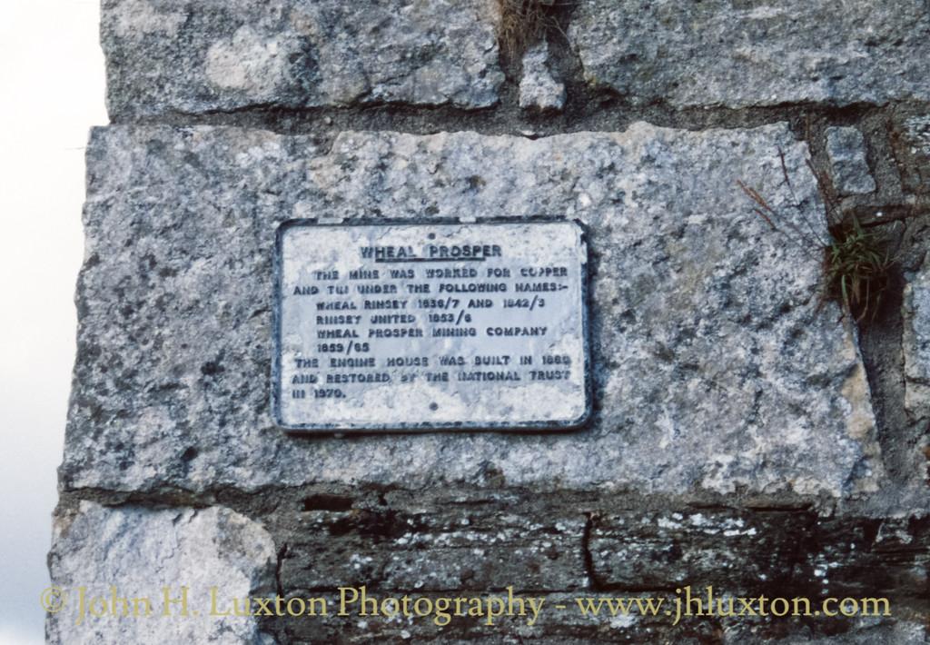 Wheal Prosper, Cornwall - September 01, 1989