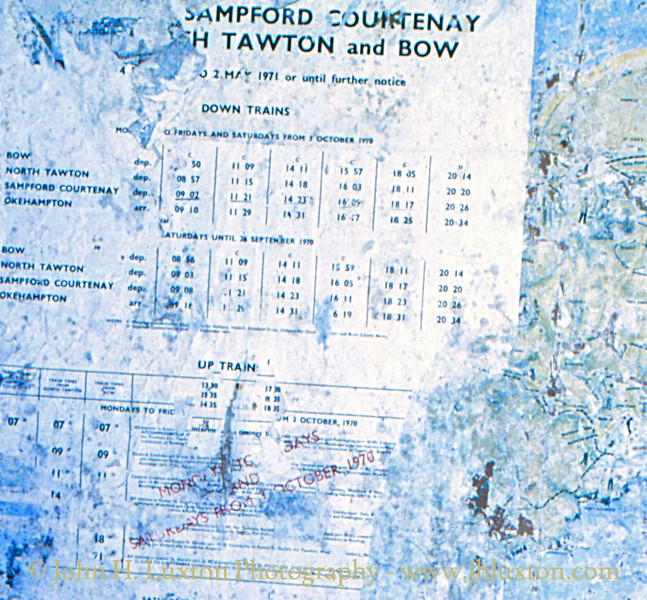 Sampford Courtenay Station - June 06, 1983