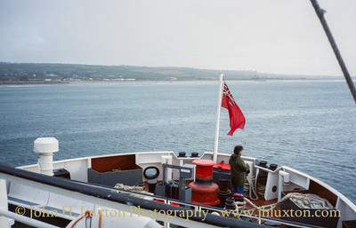 Letting go at the stern at the start of the last voyage of the 1992 season.