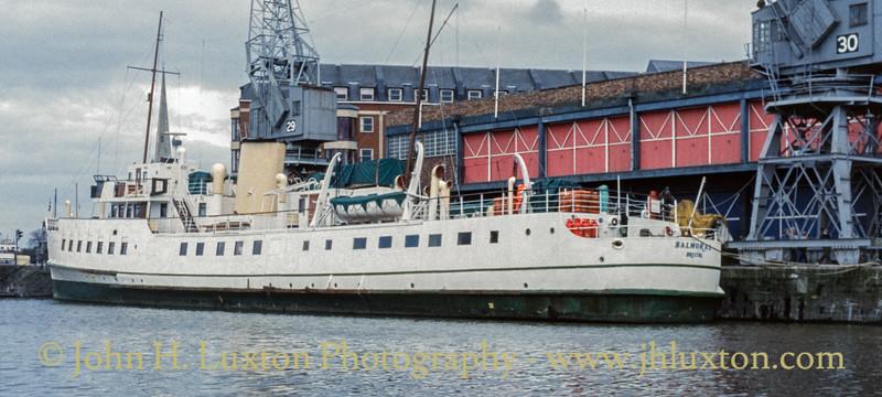 MV BALMORAL - Bristol Docks - November 02, 1992