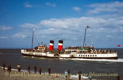 PS WAVERLEY departing Fleetwood - April 1980