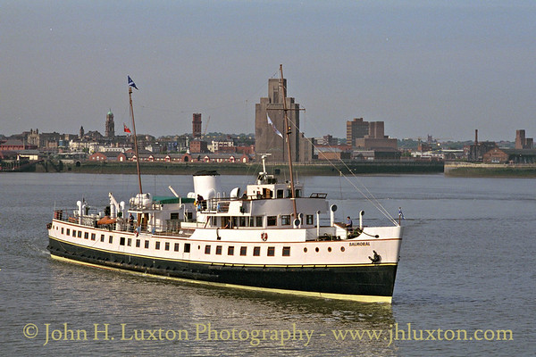 MV BALMORAL approaching Liverpool Landing Stage - May 1997