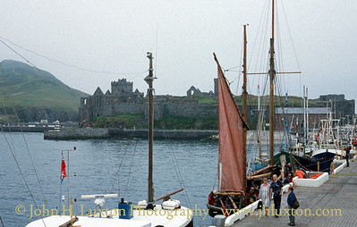Peel Harbour and Castle, Isle of Man - July 2001
