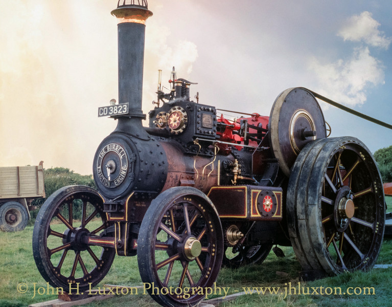 """Burrell Showmans Road Locomotive """"The Gladiator""""  3159 - CO3223 - May 27, 1990"""