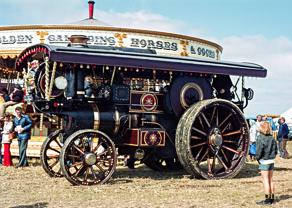"""Burrell Showmans Road Locomotive """"The Gladiator""""  3159 - CO3223 - August 18, 1979"""