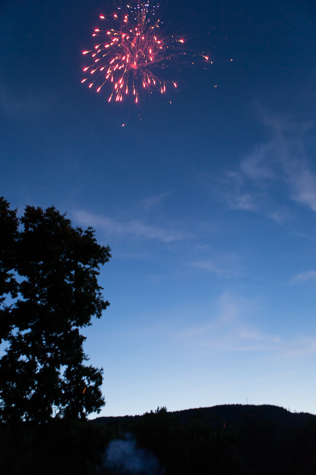We had some fun with fireworks and friends into the night.Evan keep them coming till we ran out.