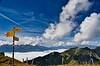 Mountain signpost