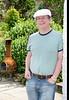 Greg in guesthouse garden