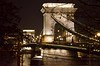 Lit night bridge
