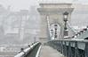 Snowy bridge to palace